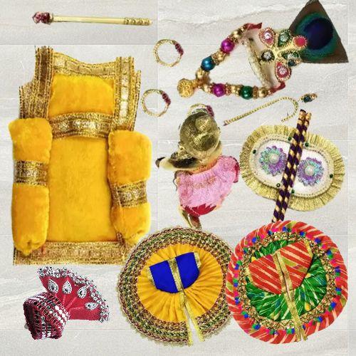 Exclusive Laddu Gopal Ji Shringar Combo Set