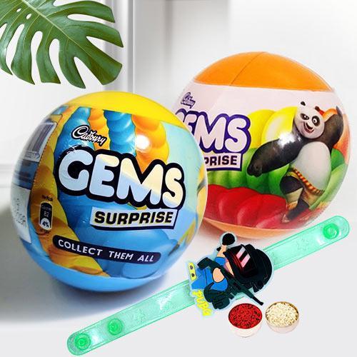 Exclusive PubG Rakhi with Cadbury Gems Surprise Ball