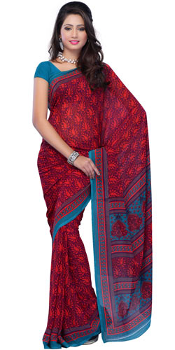 Pleasing Resplendence Reniyal Saree