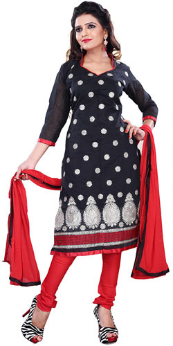 Exclusive Women�s Collection of Black Printed Salwar
