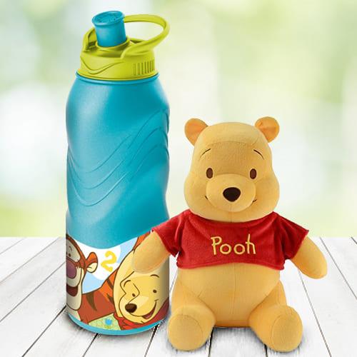 Amusing Disney Winnie The Pooh Tumbler N Teddy Combo