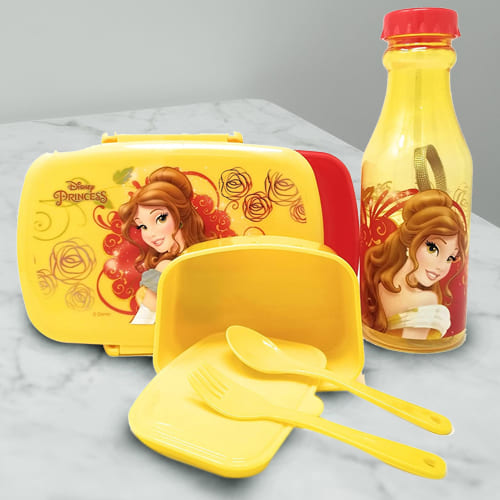 Wonderful Disney Belle Princess Lunch Box n Water Bottle