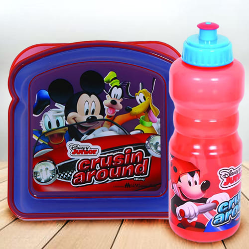 Marvelous Disney Mickey Mouse Sipper Bottle n Lunch Box