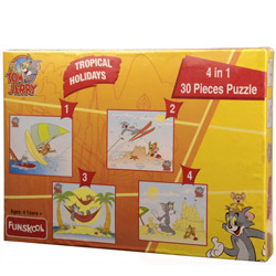 Convivial Funskool Tom and Jerry 4 in 1 Puzzle