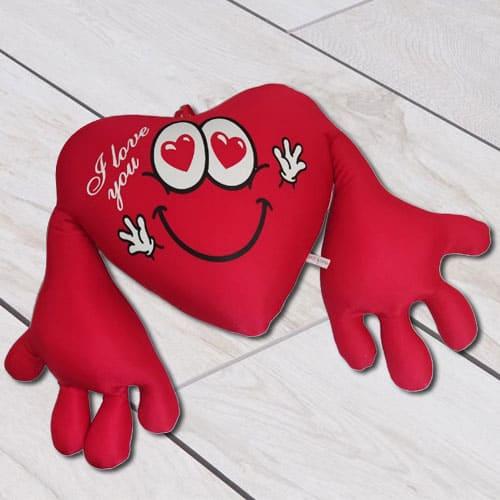 Impressive Heart Shape Cuddly Cushion