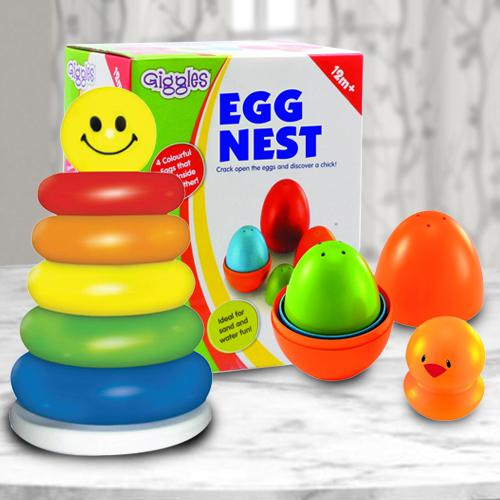 Marvelous Duo of Nesting Eggs N Stacking Ring for Kids