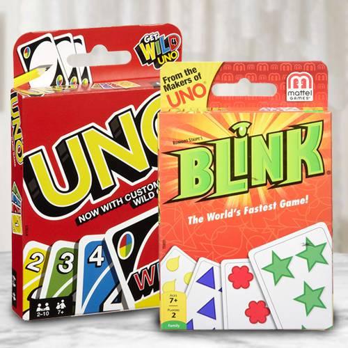 Marvelous Mattel Uno N Reinhards Staupes Blink Card Game