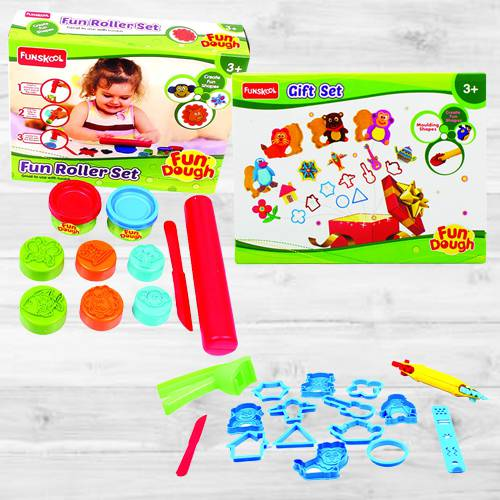 Exclusive Funskool Fun Dough Gift Set N Fun Dough Roller Set