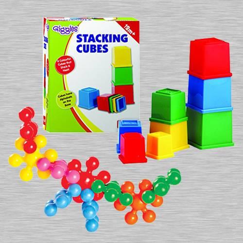Wonderful Funskool Kiddy Star Links n Giggles Stacking Cubes