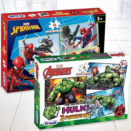 Marvelous Frank Marvel Avengers Puzzle Set