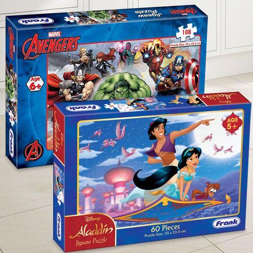 Wonderful Frank Marvel Avengers N Disney Aladdin Puzzle Set