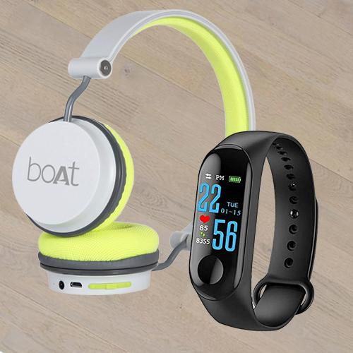 Marvelous Smart Watch N Boat On-Ear Headphone