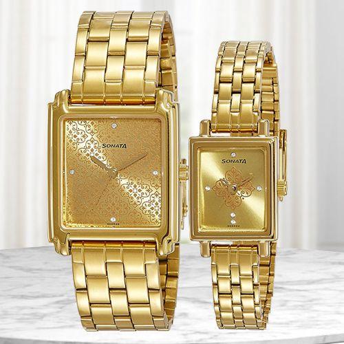 Marvelous Sonata Analog Couple Watch