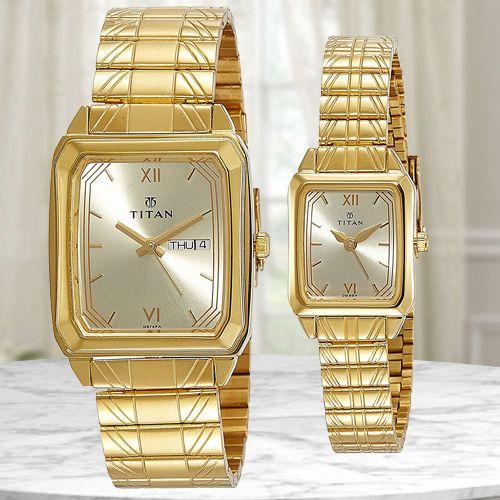 Marvelous Titan Bandhan Analog Pair Watch