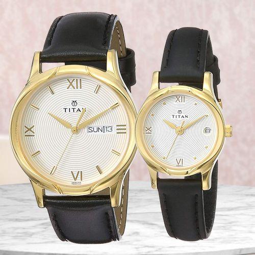 Outstanding Titan Bandhan Analog Couple Watch